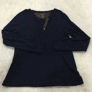 Ralph Lauren blue long sleeve top